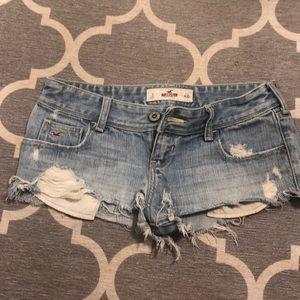 Hollister Jeans Destroyed Jean Shorts 3 26